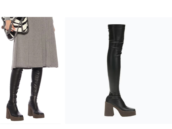 Stella McCartney faux leather over the knee boots