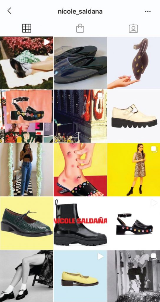 7 Shoe Brands On Instagram You Need To Start Following. Nicole Saldaña, designed in New York and made by hand in Portugal. A crazy and funky brand to follow, with a lot of weird inspiration photos.