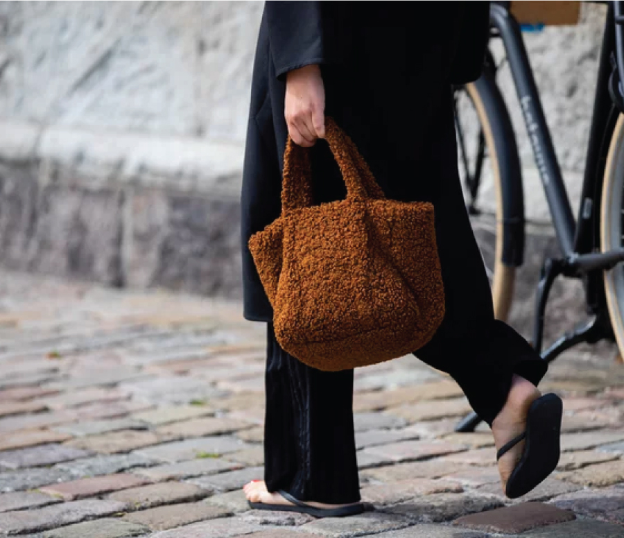 Fall Winter Bag Trends Of 2020: the shearling bag.