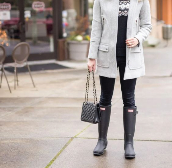 The Major Fall Shoe Trends To Buy Now, waterproof Wellies. Up to the knee, like the classic Hunter boot, or just to the ankle, the Wellies are a must for rainy days.