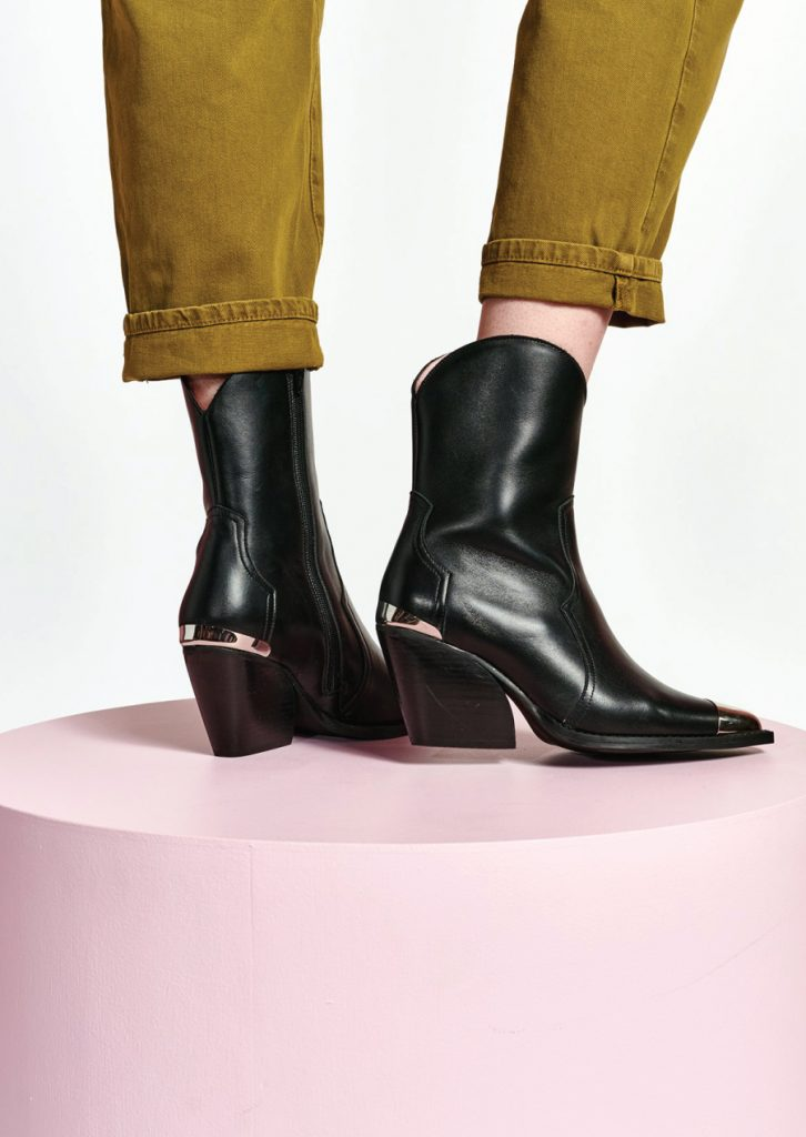 The Boots That Will Fit Perfectly With Your Autumn Jeans. Essentiel Antwerp Black Leather Ankle Boots.