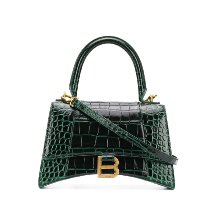 12 Hand Bags That Look Great In The Winter. Hourglass small top handle bag from Balenciaga
