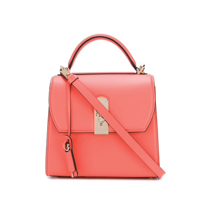 12 Hand Bags That Look Great In The Winter. Boxyz Top Handle Bag from Salvatore Ferragamo