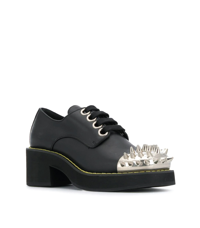 The Coolest Accessories To Own In 2020. Studded toe cap Derby shoes from Miu Miu.