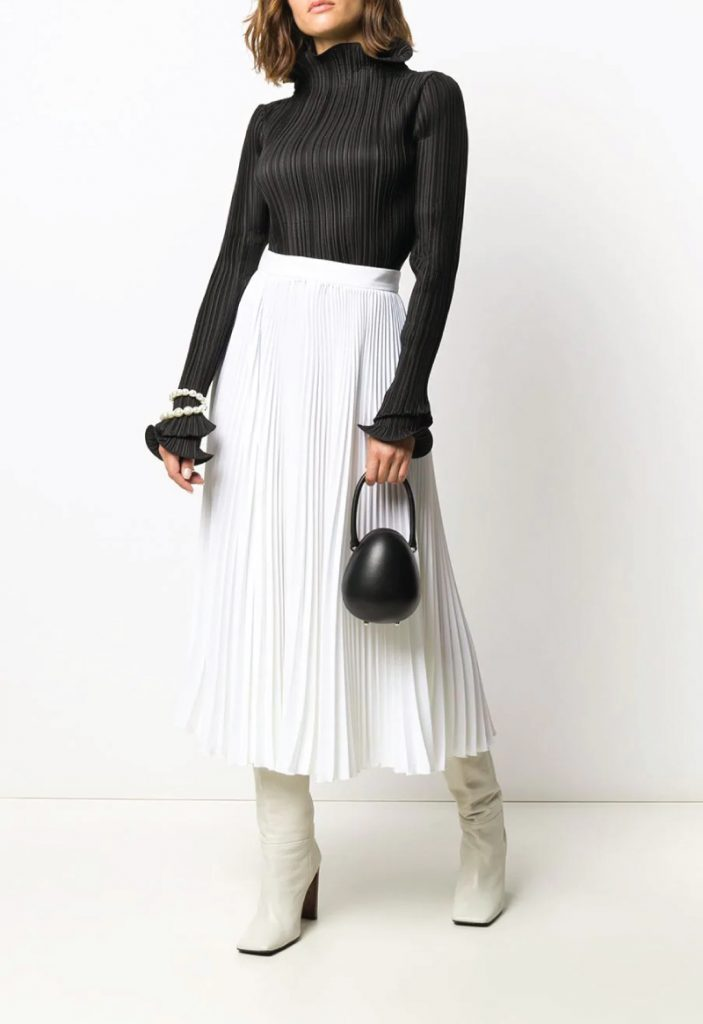 The Coolest Accessories To Own In 2020. Leather Egg clutch bag from Simone Rocha