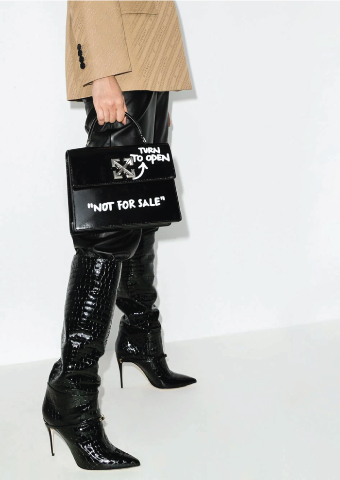 12 Hand Bags That Look Great In The Winter. 2.8 Jitney top handle bag from Off-White