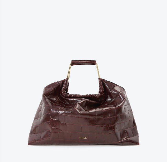 12 Hand Bags That Look Great In The Winter. Mock Croc Leather Bag with Handles from Uterqüe.