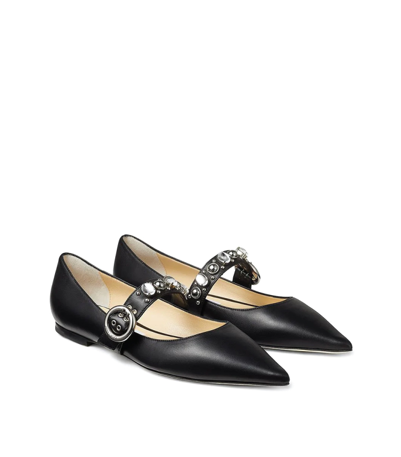 The Coolest Accessories To Own In 2020. Gela ballerina flats from Jimmy Choo