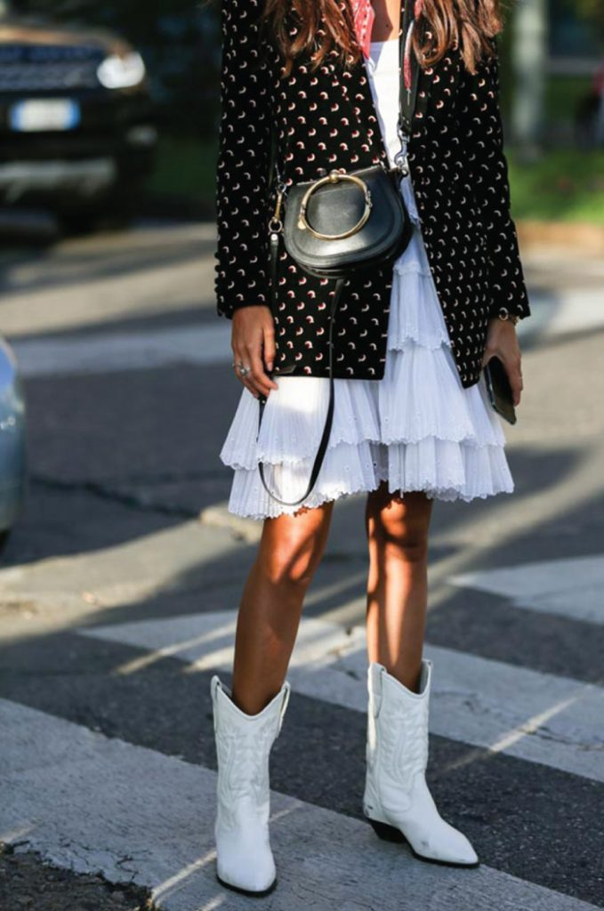 White Boots: Yay or nay? White boots and a white dress.