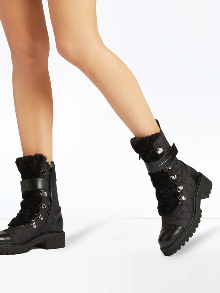 Combat Boots: These Are The Ones We Recommend. Quilted combat boots from Giuseppe Zanotti.