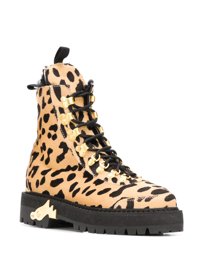 Combat Boots: These Are The Ones We Recommend. Cheetah-print combat boots from Off-White.