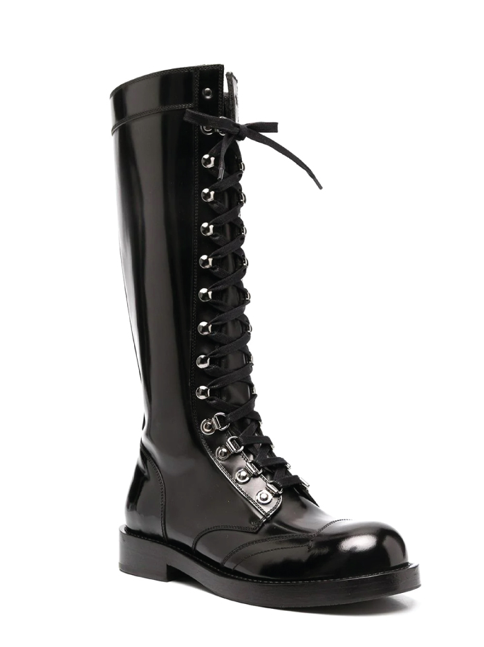 Combat Boots: These Are The Ones We Recommend. Knee-high lace-up combat boots from Dolce & Gabbana.