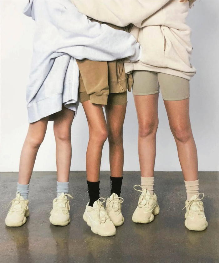The Fundamental List Of Shoe Trends For 2021. Technical sneakers in beige.