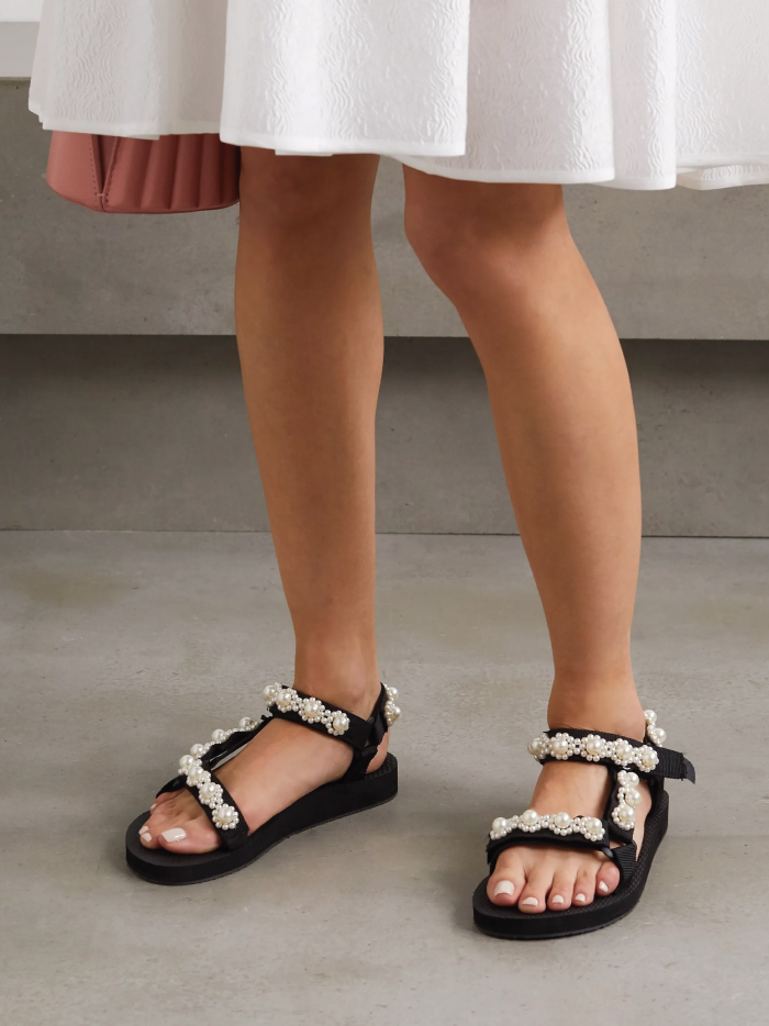 The Sandals That Will Be Out Of Stock Before Spring. Arizona Love sandals with pearls.