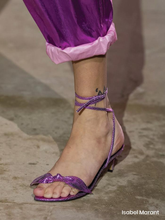 Spring Shoe Trends 2021. Elegant Baby Heels, Isabel Marant Spring Summer 2021.