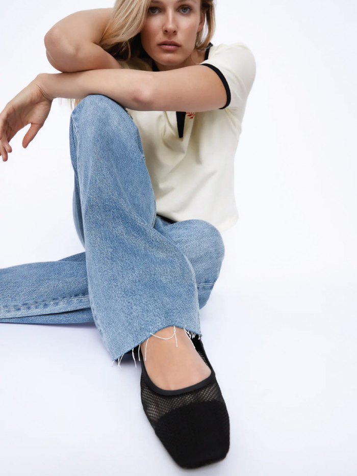 Why Zara Has The Best Shoe Collection For Spring: Mesh Flats from Zara.