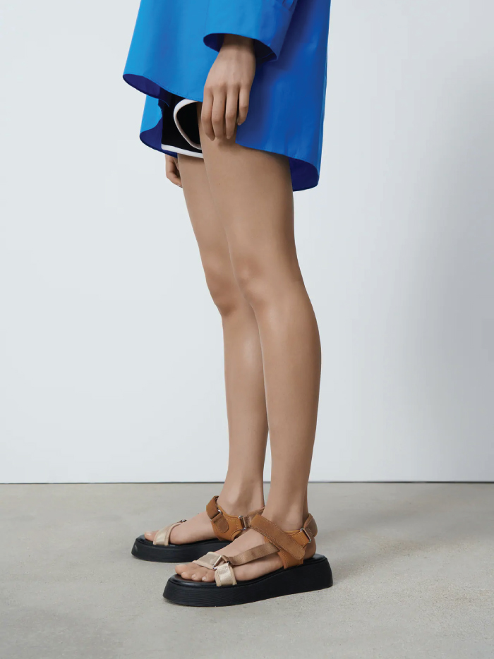 Why Zara Has The Best Shoe Collection For Spring: Flat Strappy Sandals from Zara.