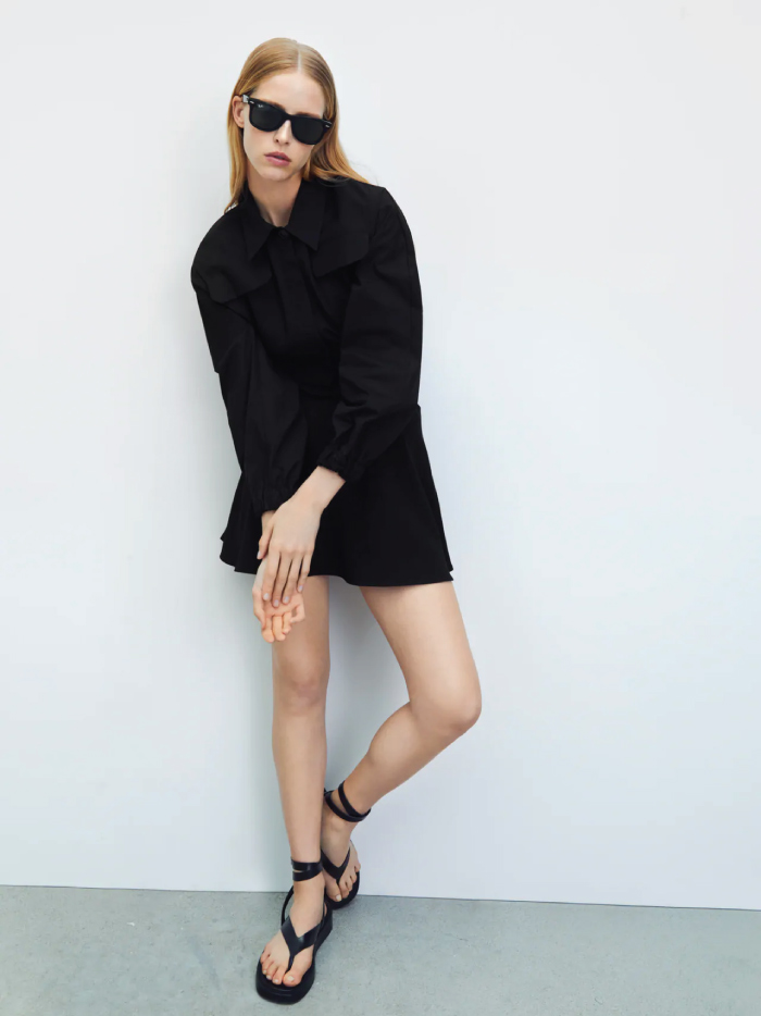 Why Zara Has The Best Shoe Collection For Spring: Tied Leather Flat Sandals from Zara.