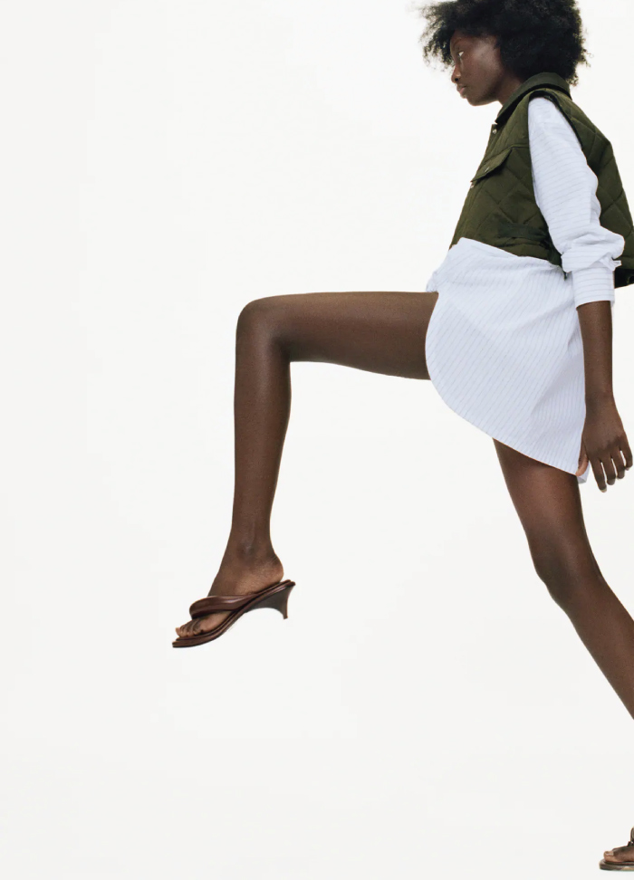Why Zara Has The Best Shoe Collection For Spring: Padded Heeled Sandals from Zara.