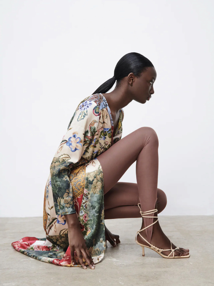 Why Zara Has The Best Shoe Collection For Spring: Tied Leather Heeled Sandals from Zara.