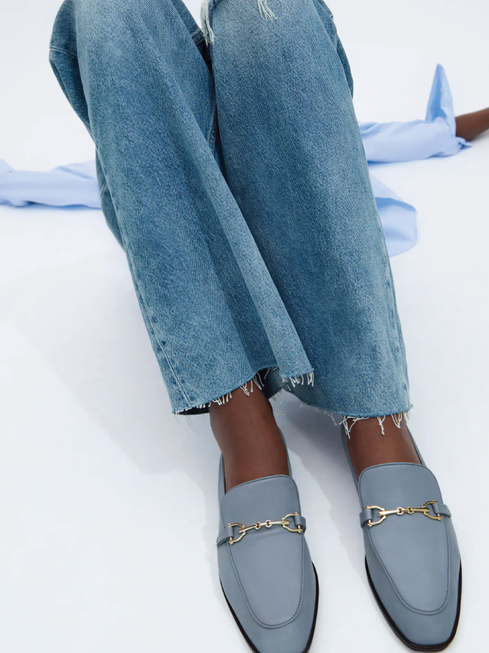 Why Zara Has The Best Shoe Collection For Spring: Leather Loafers With Buckle from Zara.
