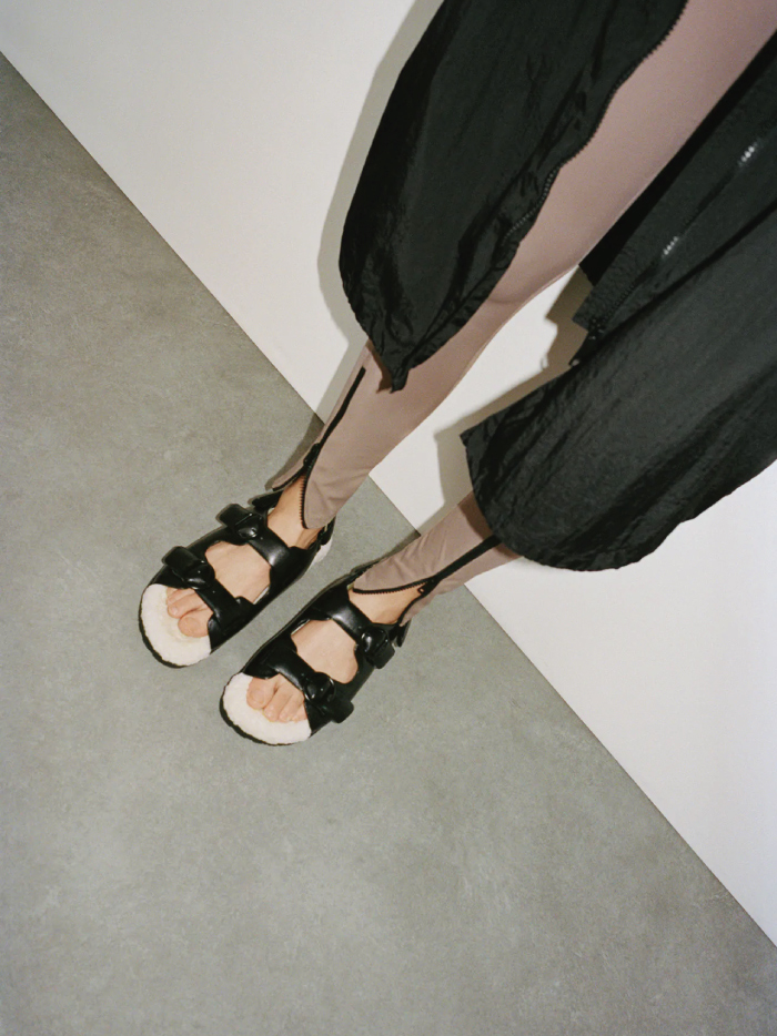 Why Zara Has The Best Shoe Collection For Spring: Faux Fur Flat Sandals from Zara.