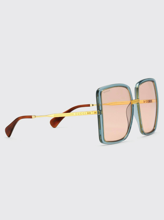 The Accessory That Will Make Everything Look Cooler In The Summer: sunglasses from Gucci, Blue Square-frame Sunglasses.