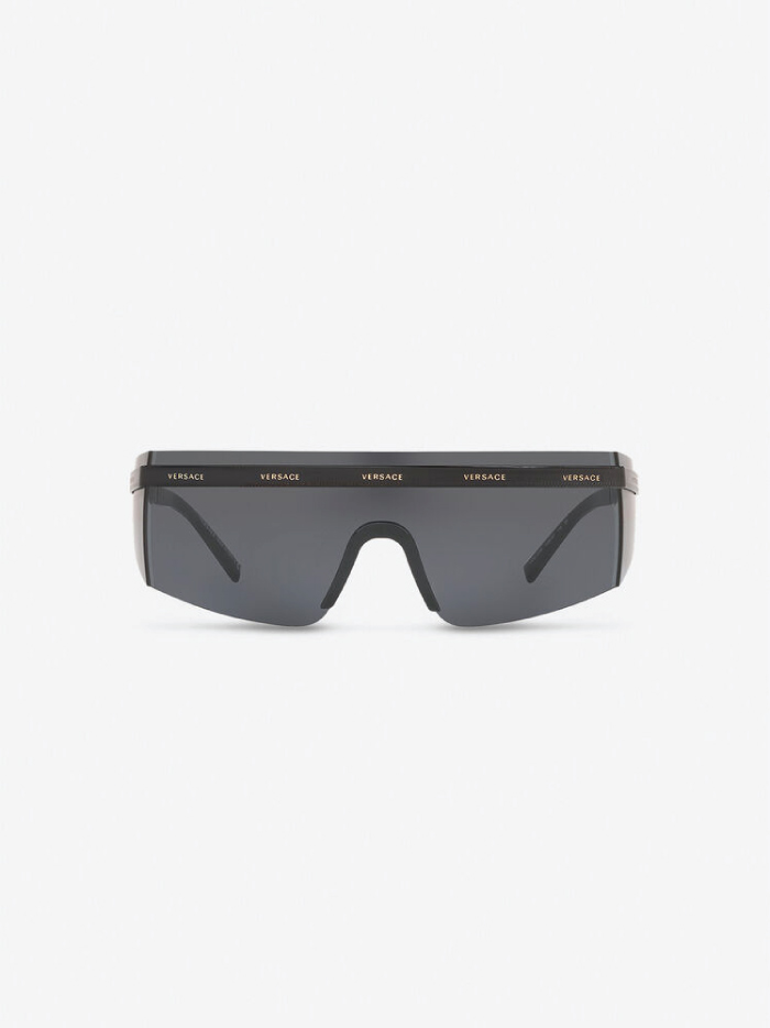 The Accessory That Will Make Everything Look Cooler In The Summer: sunglasses from Versace, Logomania Visor Sunglasses.