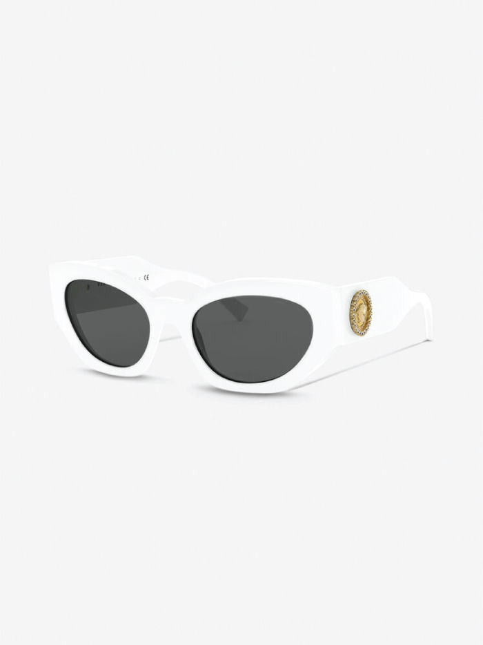 The Accessory That Will Make Everything Look Cooler In The Summer: sunglasses from Versace, Medusa Cristal Sunglasses.