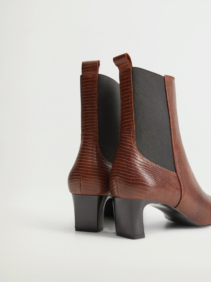 The Boots Everyone Will Wear For The Next Months.  Heel Leather Boots from Mango.