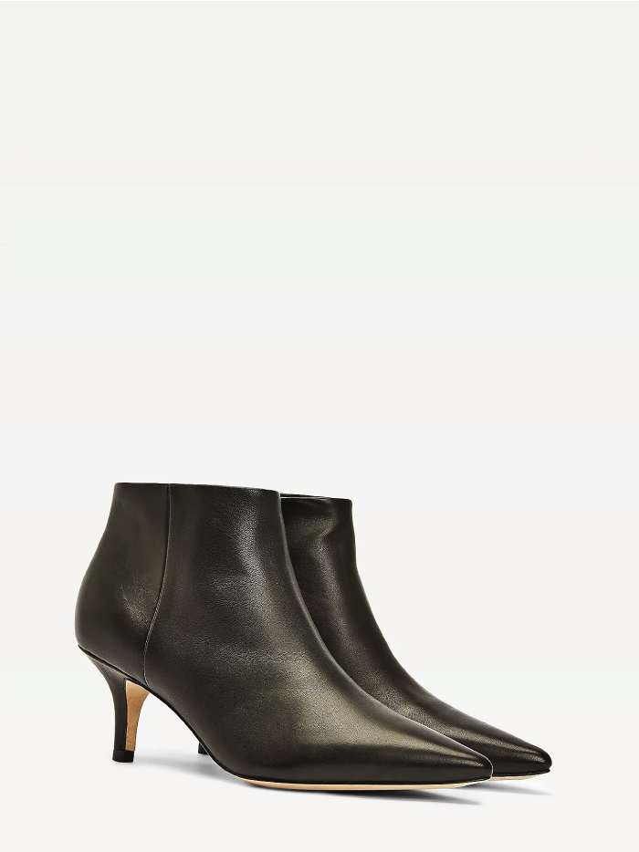The Boots Everyone Will Wear For The Next Months. Elevated Leather Kitten-Heel Boots from Tommy Hilfiger.
