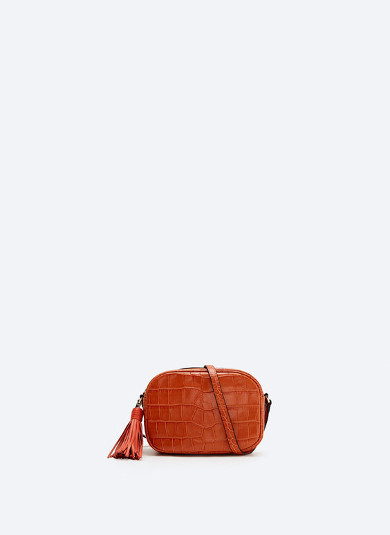 OVAL LEATHER CROSSBODY BAG from UTERQUE