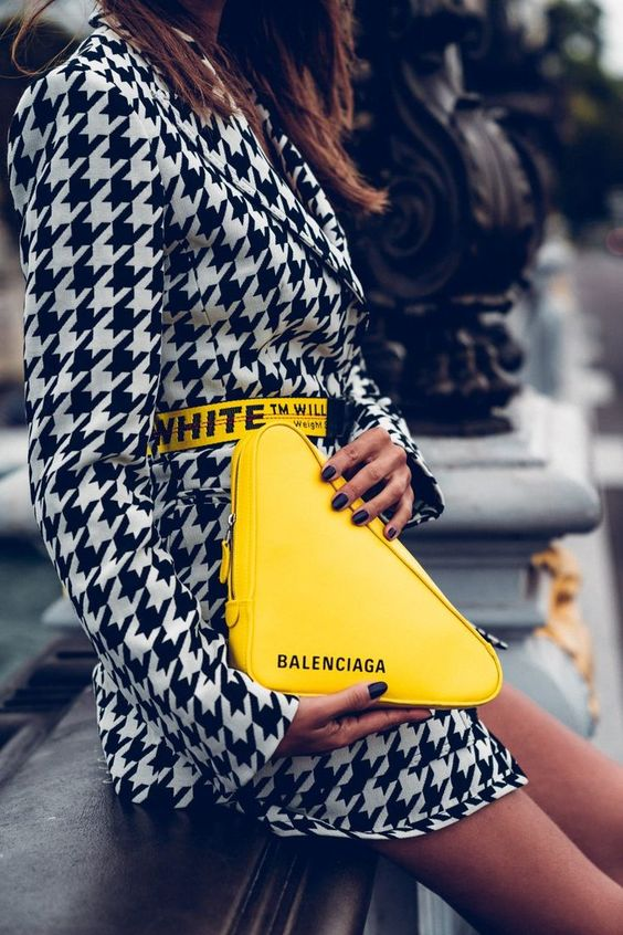 TRIANGULAR LEATHER BAG FROM BALENCIAGA from PINTEREST