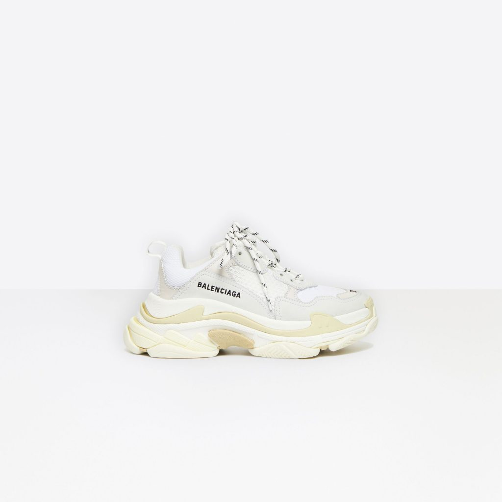 TRIPLE S SNEAKER IN WHITE DOUBLE FOAM AND MESH from BALENCIAGA