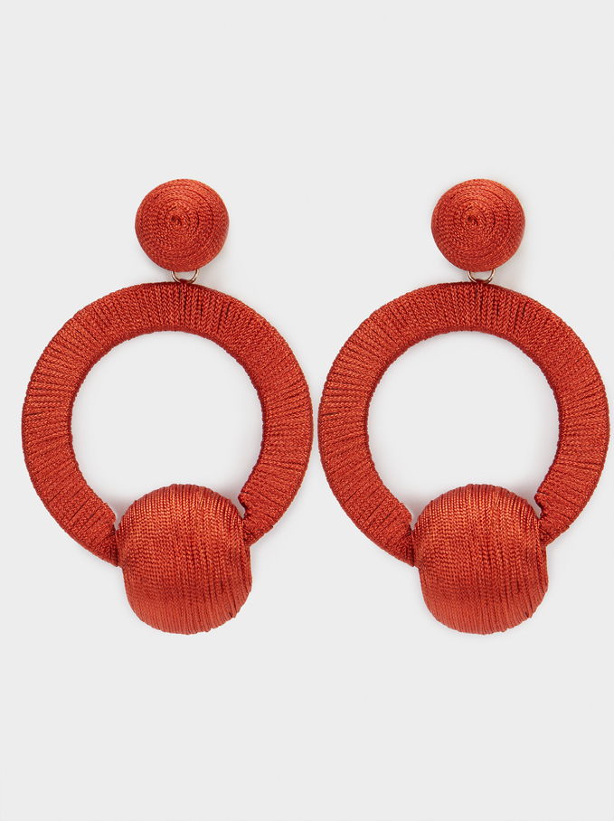 LONG BRAIDED WIRE EARRING  from PARFOIS