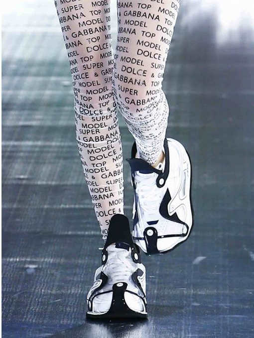 SPORTY SNEAKERS ON THE RUNWAY  from DOLCE & GABBANA