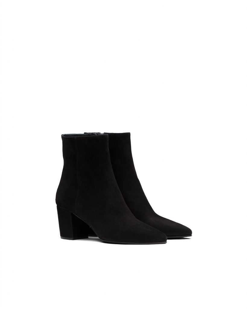 BLACK SUEDE BOOTS from PRADA