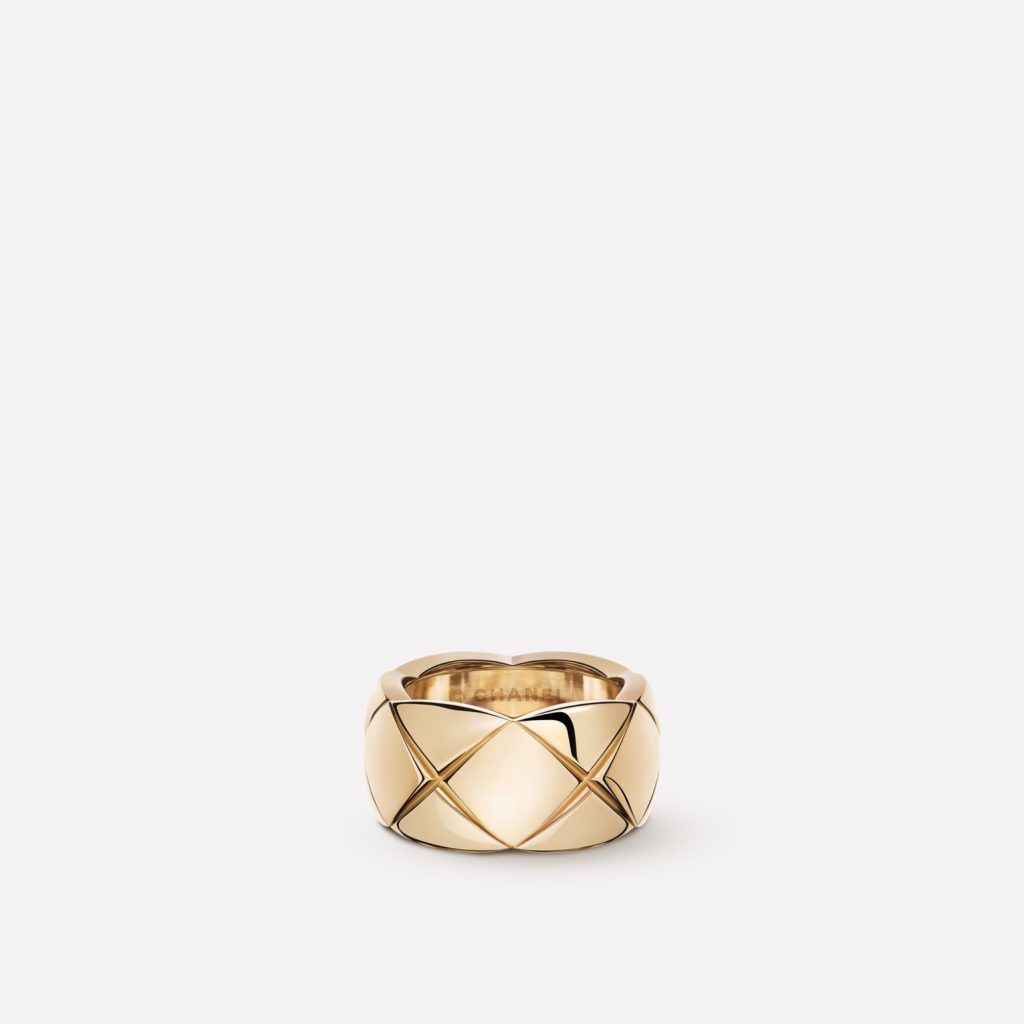 RING QUILTED MOTIF, LARGE VERSION from CHANEL