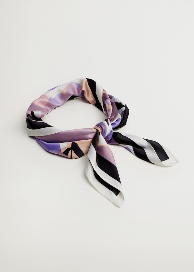 PRINTED DESIGN SCARF MADE OF RECYCLED FABRICS from MANGO