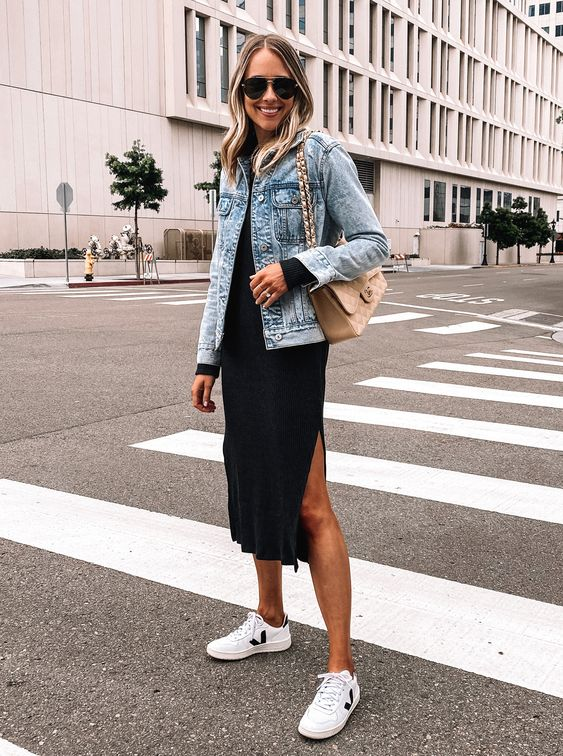 VEJA WHITE SNEAKERS OUTFIT  from PINTEREST