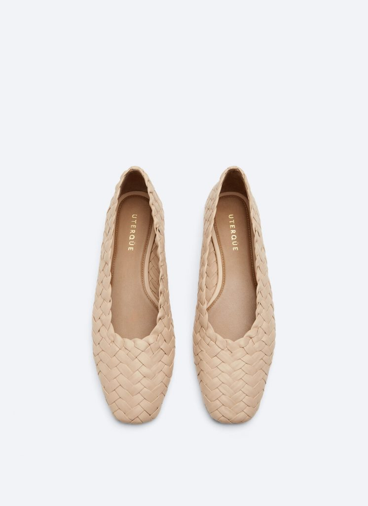 NUDE BRAIDED BALLET FLAT from UTERQUE