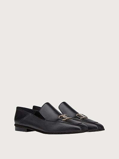Angular Moccasin Made of Leather from Salvatore Ferragamo