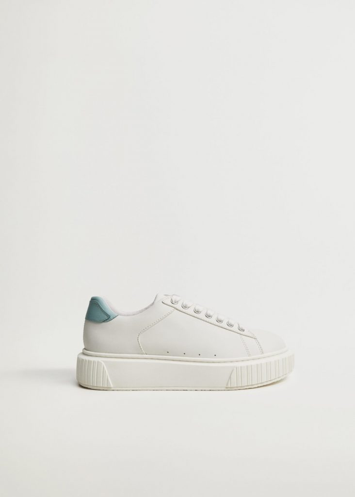 LACE-UP PLATFORM SNEAKERS from MANGO