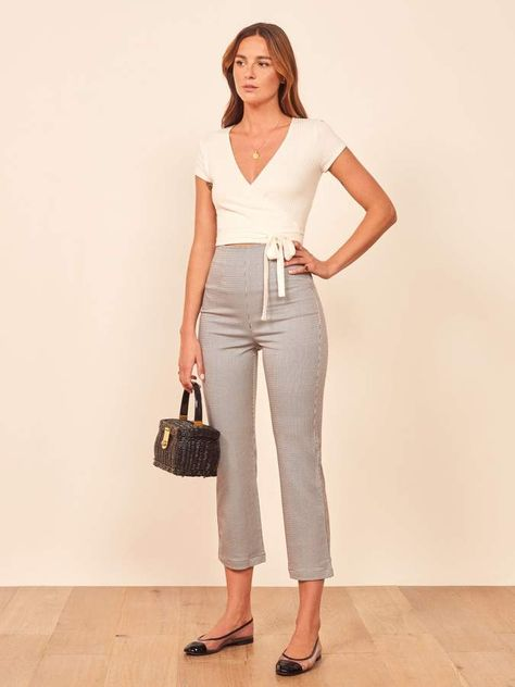 BALLET FLATS WITH TAILORING JEANS  from PINTEREST