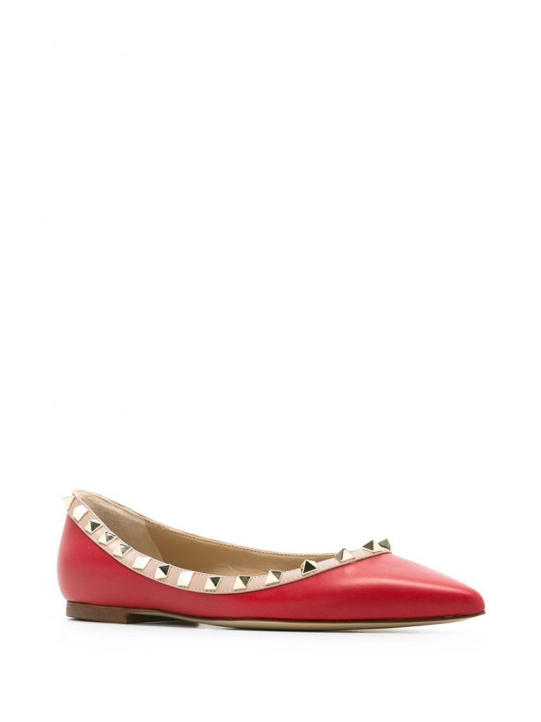 RED ROCKSUTD BALLET FLATS  from VALENTINO