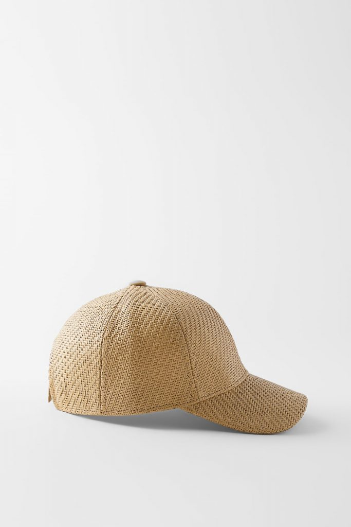 HAT WITH RAPHIA EFFECT from ZARA