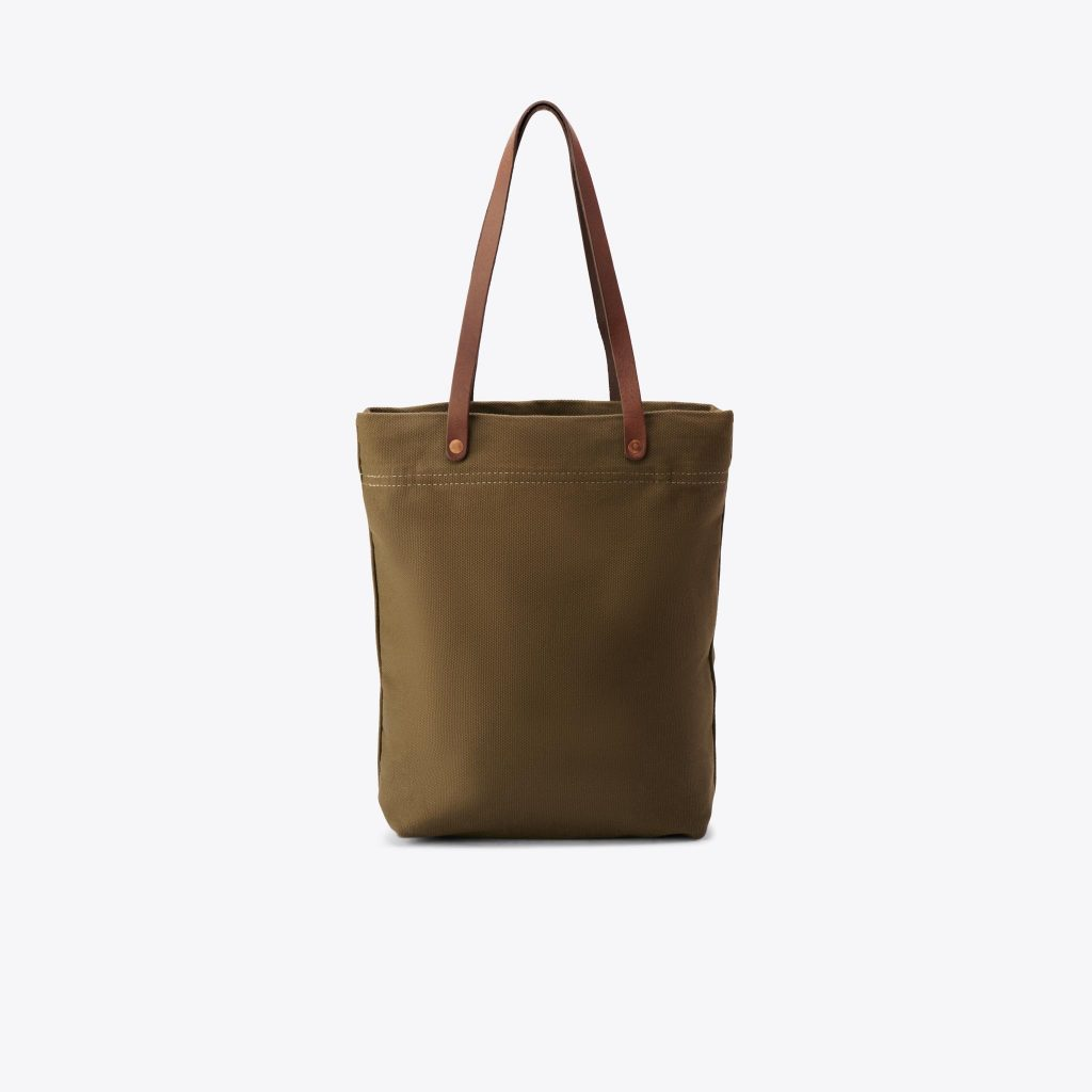 COTTON CANVAS TOTE OLIVE GREEN  from NISOLO