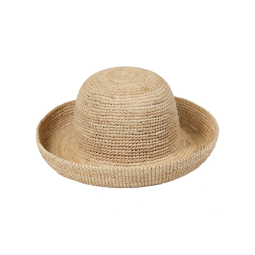WOVEN RAFFIA STRAW BOAT HAT  from LACK OF COLOR
