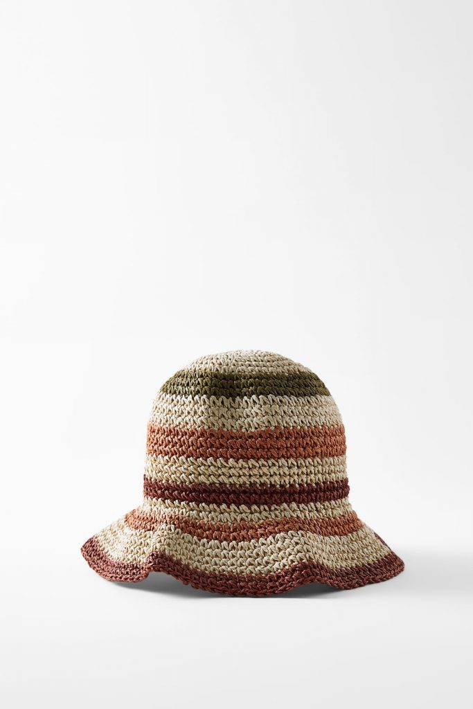 STRIPED BUCKET HAT  from ZARA