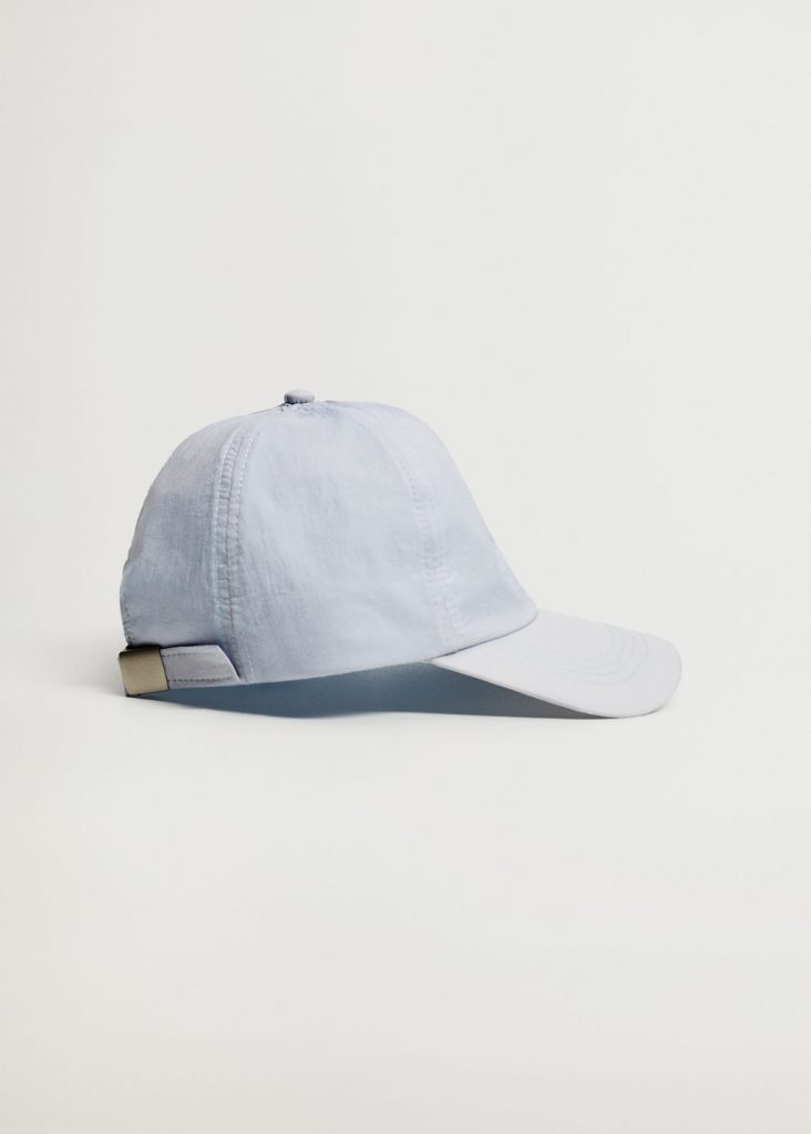 LIGHT BLUE PEAKED HAT from MANGO